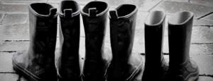 Porter des bottes en caoutchouc