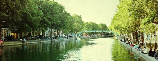 Se promener le long du canal Saint Martin