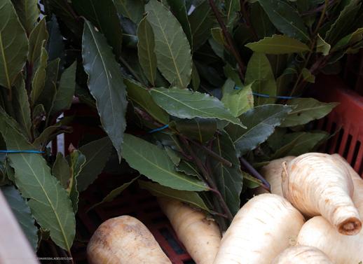 légumes du mini marché sur l'asphalte